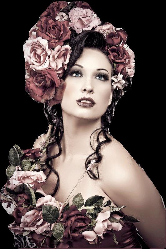Tube femme a fleur!